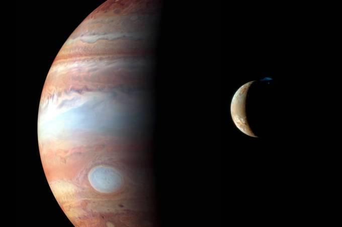 Júpiter e sua lua Io