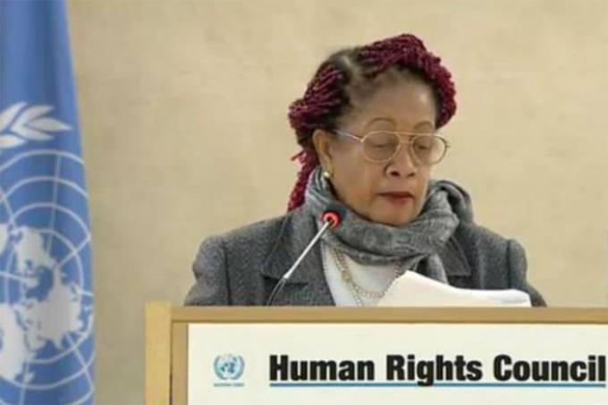 A ministra Luislinda Valois fala em sessão do Conselho de Direitos Humanos da ONU