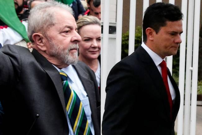 As gravatas de Lula e Moro