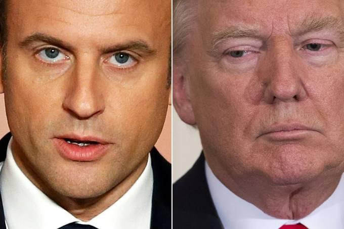 Emmanuel Macron e Donald Trump