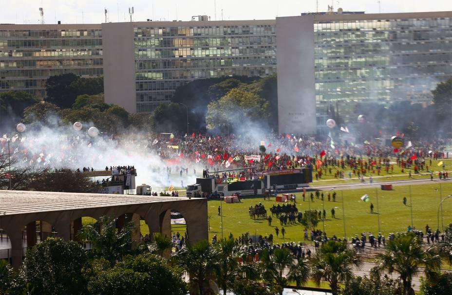 Manifestação em Brasília contra o Governo Temer e pela convocação de eleições diretas - 24/05/2017