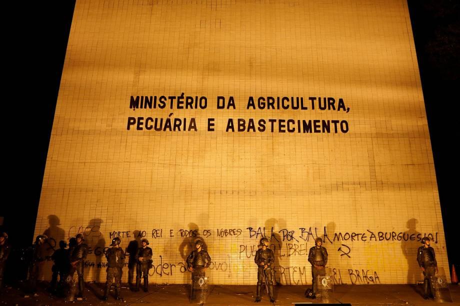 Ministério da Agricultura após protesto que pede a saída do presidente Michel Temer em Brasília (DF) - 24/05/2017