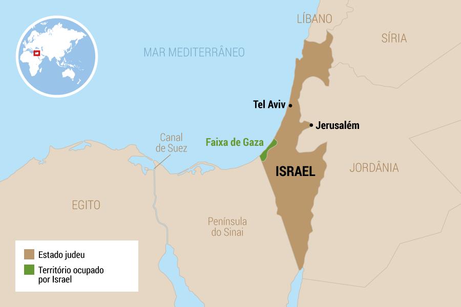 6 de junho de 1967 - Israel toma a Faixa de Gaza e avança na Península do Sinai