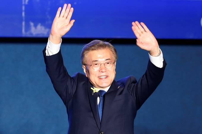Moon Jae-in é eleito presidente da Coreia do Sul
