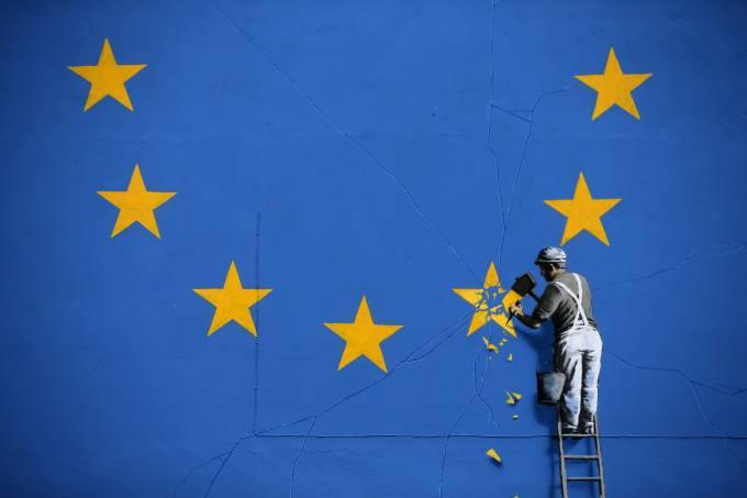 Mural de Banksy na Inglaterra