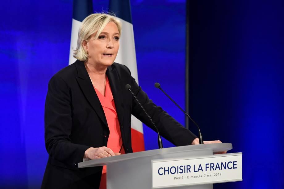 Marine Le Pen reconhece a vitória de Emmanuel Macron na disputa pela Presidência da França - 07/05/2017