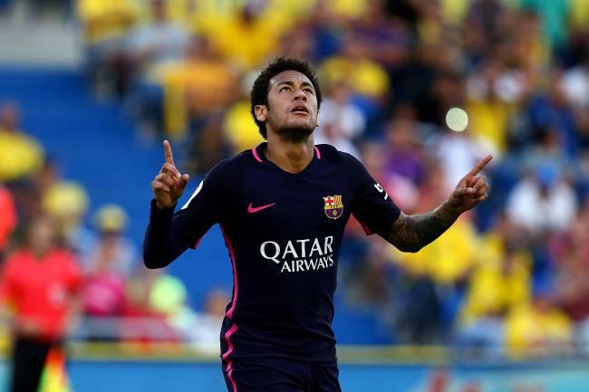 Neymar comemora o gol do Barcelona contra o Las Palmas - 14/05/2017