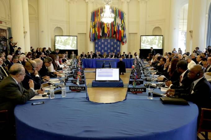 Reunião de chanceleres da Organização dos Estados Americanos, em Washington