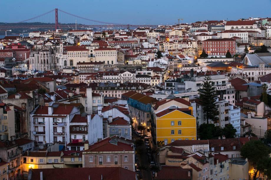 O centro de Lisboa.