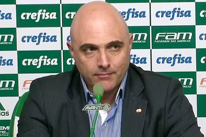 O presidente do Palmeiras Maurício Galiotte