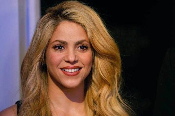 A cantora Shakira 16/01/2017