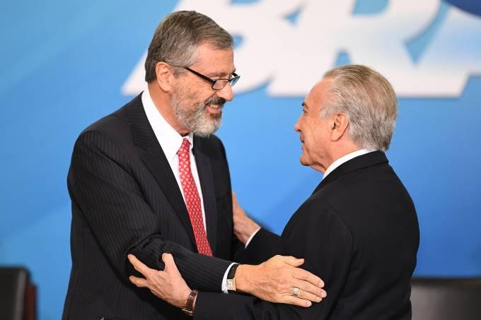 Presidente Michel Temer e Ministro da Justiça, Torquato Jardim