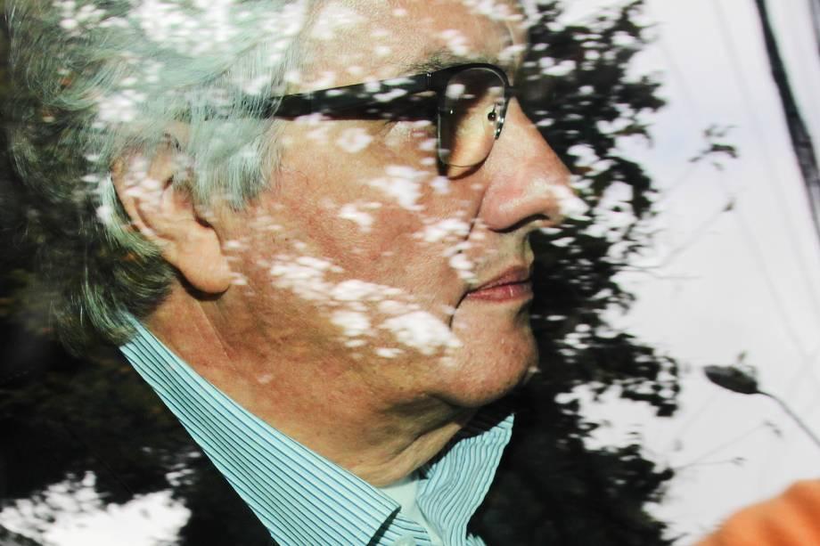 Ex-senador Delcídio do Amaral chega à sede da Justiça Federal, em Curitiba, para prestar depoimento ao juiz Sérgio Moro - 22/05/2017