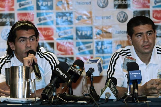 Carlos Tevez e Juan Riquelme
