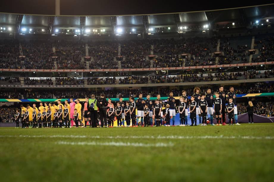 Amistoso da seleção brasileira contra a Austrália no Melbourne Cricket Ground em Melbourne - 13/06/2017