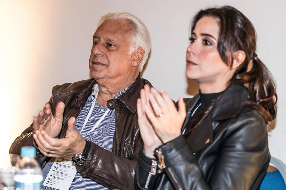 Antonio Fagundes durante palestra no Fórum A Revolução do Novo: A Transformação do Mundo - 05/06/2017
