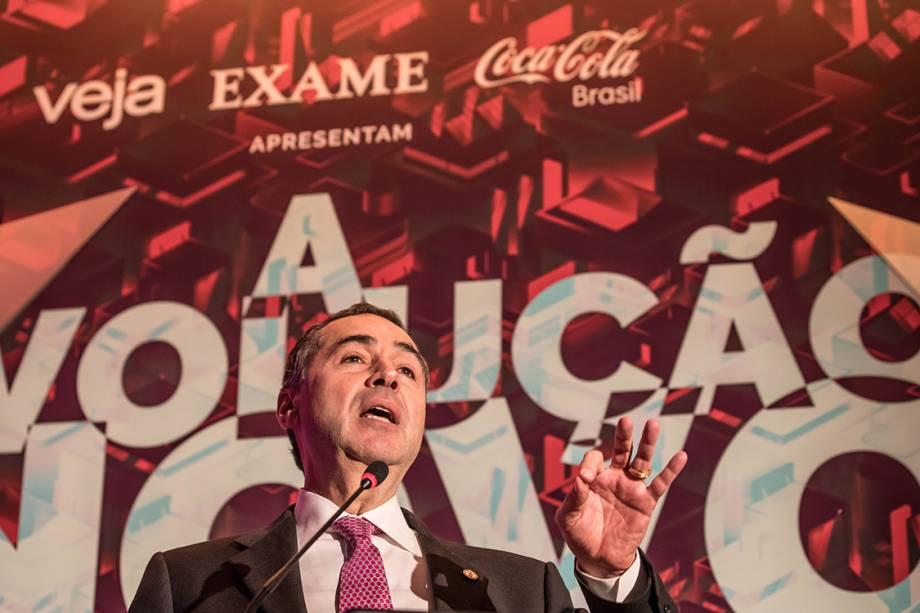 Luís Roberto Barroso, ministro do Supremo Tribunal Federal durante entrevista no Fórum A Revolução do Novo: A Transformação do Mundo