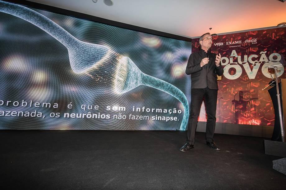 Walter Longo, presidente do grupo Abril, durante palestra no Fórum A Revolução do Novo: A Transformação do Mundo