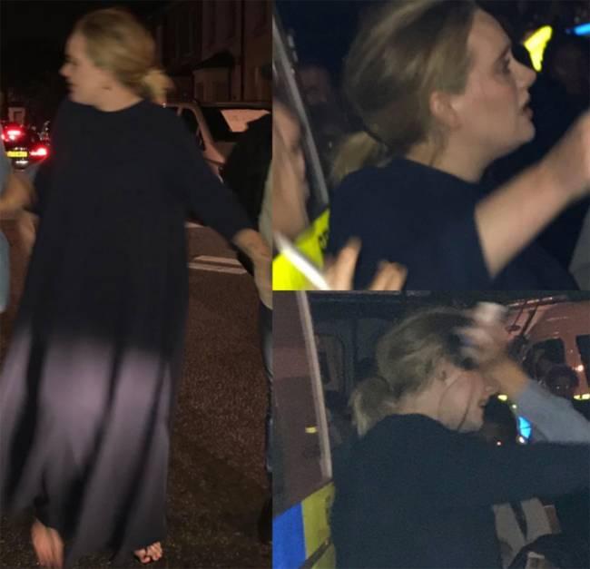 Adele é vista oferecendo ajuda durante incêndio na Grenfell Tower