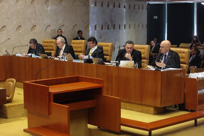 Sessão no Supremo Tribunal Federal