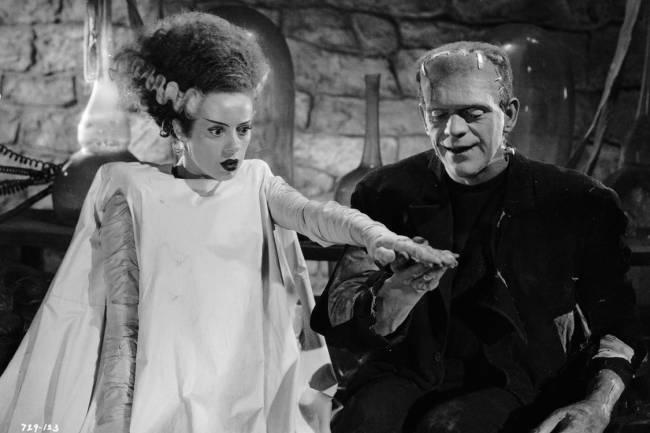 Boris Karloff e Elsa Lanchester em 'A Noiva de Frankenstein' (1935)