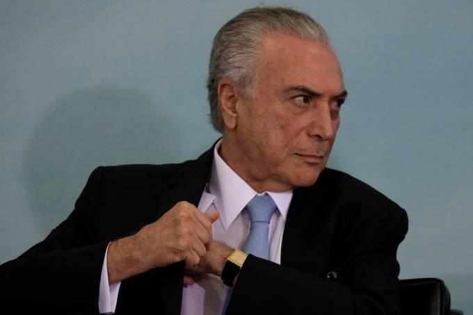 Michel Temer durante cerimônia em Brasília