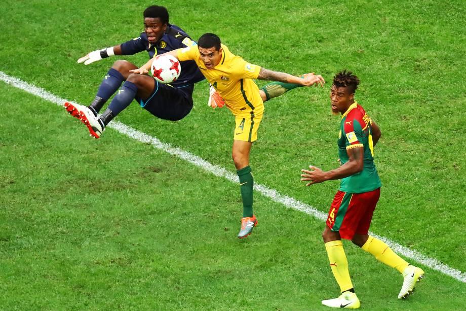Partida entre Camarões e Austrália, válida pela Copa das Confederações em São Petersburgo, na Rússia - 18/06/2017