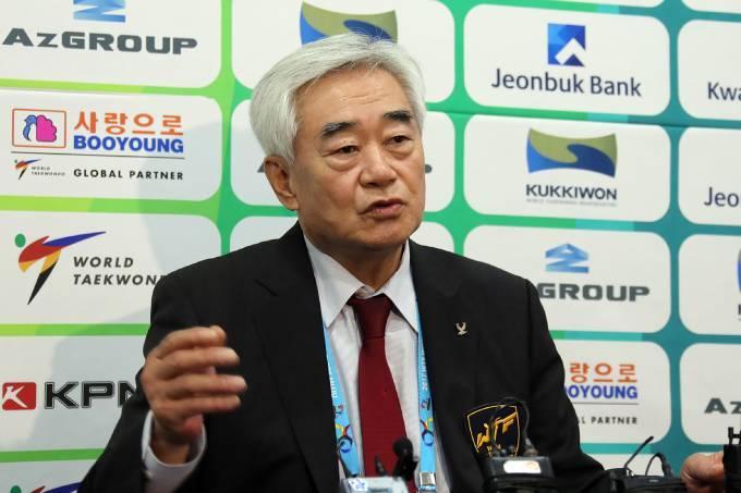 Chungwon Choue, presidente da Federação Internacional de Taekwondo