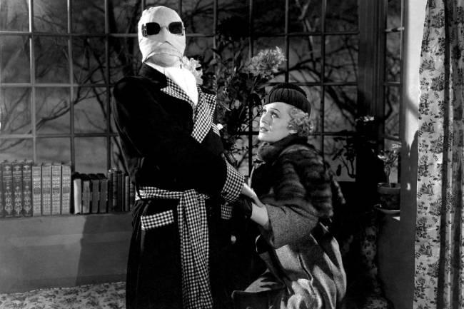 Claude Rains e Gloria Stuart em 'O Homem Invisível' (1933)