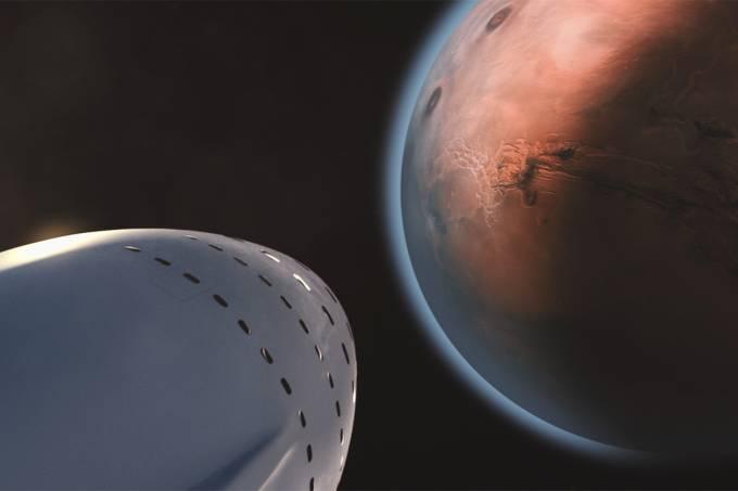 Ilustração – Colonização de Marte
