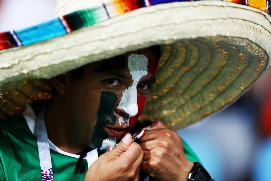 Torcida do México durante a partida contra a Alemanha válida pelas semifinais da Copa das Confederações 2017 - 29/06/2017