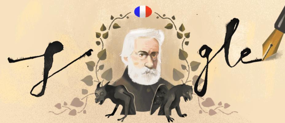 Google homenageia escritor Victor Hugo
