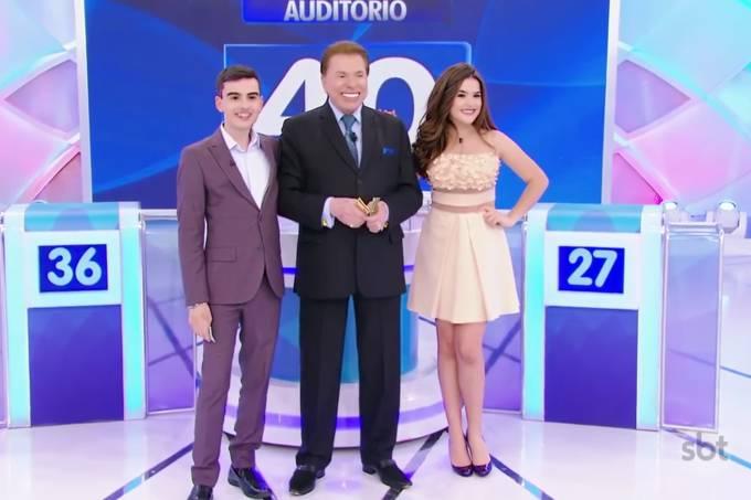Dudu Camargo, Silvio Santos e Maisa Silva
