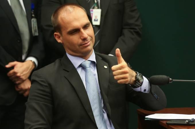 Deputado Eduardo Bolsonaro (PSC-SP), filho de Jair Bolsonaro