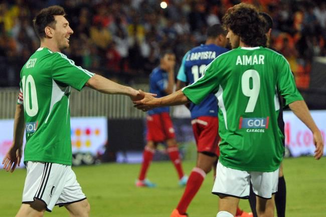 Lionel Messi e Pablo Aimar