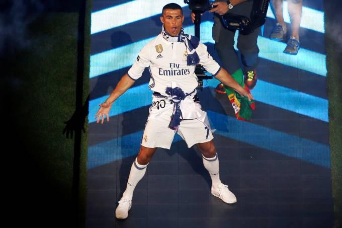 Cristiano Ronaldo celebra título da Liga dos Campeões