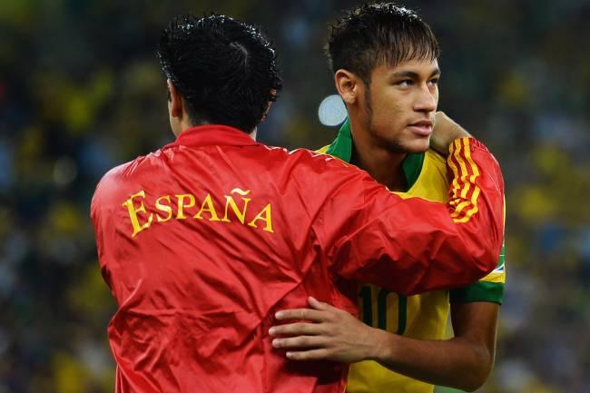 Neymar e Xavi