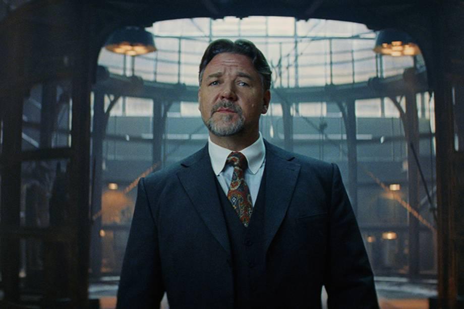 Russel Crowe (Dr. Henry Jekyll) em cena do filme 'A Múmia'