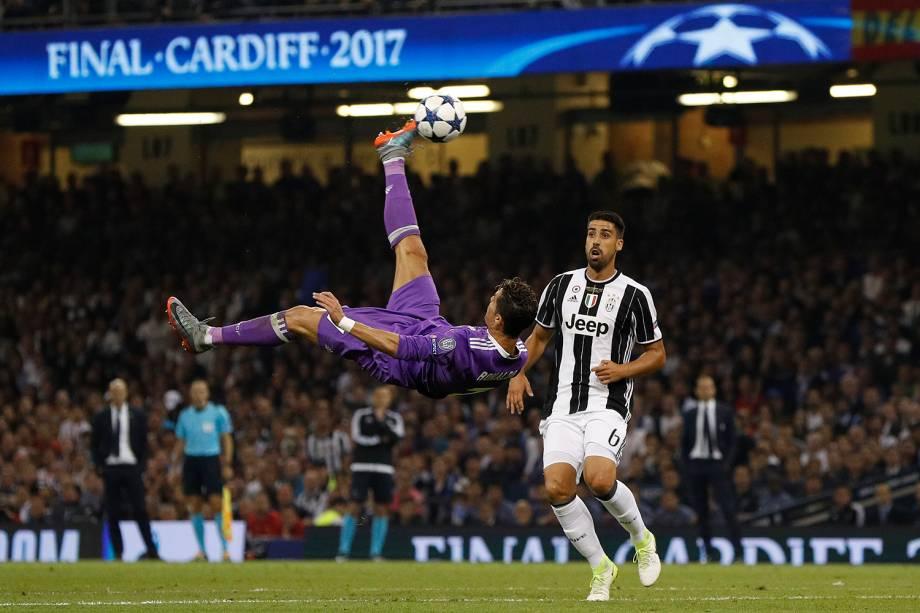 Cristiano Ronaldo do Real Madrid durante a partida contra a Juventus na final da Liga dos Campeões da Europa no Millenium Stadium, em Cardiff, no País de Gales - 03/06/2017