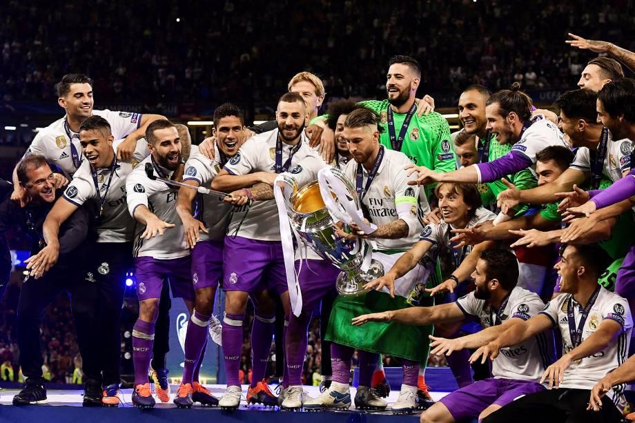 Real Madrid campeão da Liga dos Campeões da Europa no Millenium Stadium, em Cardiff, no País de Gales - 03/06/2017