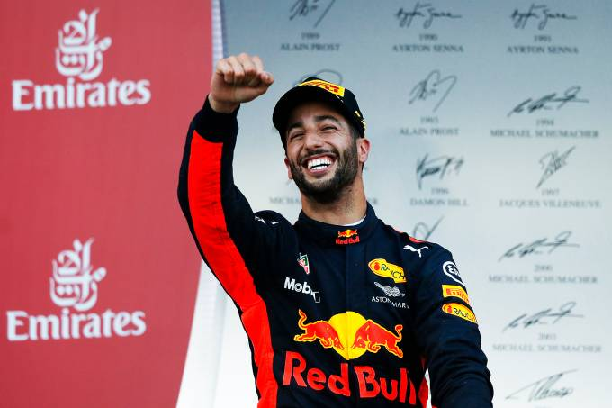 O australiano Daniel Ricciardo