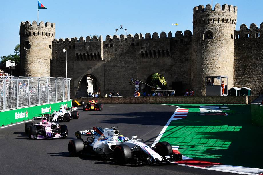 Felipe Massa durante o Grande Prêmio do Azerbaijão, na oitava etapa da temporada de 2017 da Fórmula 1 - 25/06/2017