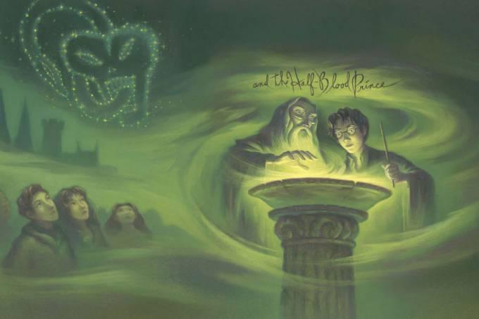Capa do Livro Harry Potter e o Enigma do Príncipe
