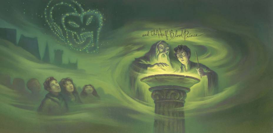 Capa do livro 'Harry Potter e o Enigma do Príncipe'