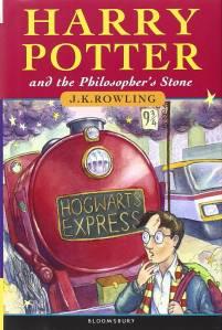 Capa da 1ª edição britânica do livro 'Harry Potter e a Pedra Filosofal'