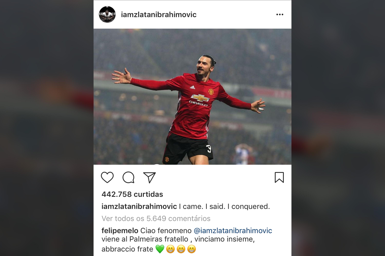 Instagram Ibrahimovic