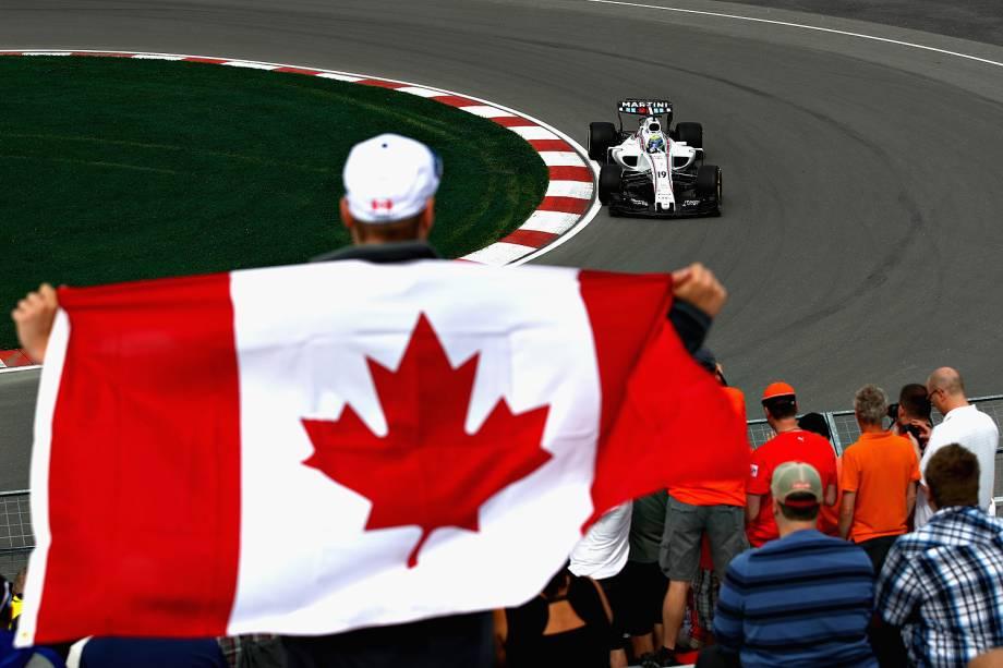 Felipe Massa durante treino livre no Grande Prêmio do Canadá, sétima prova da temporada de 2017 da Fórmula 1- 09/06/2017