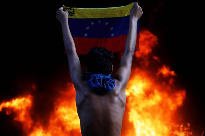 Protesto contra Maduro na Venezuela
