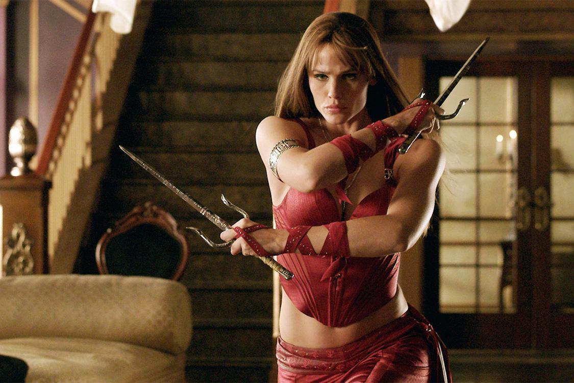 Jennifer Garner como Elektra, um fiasco da Marvel