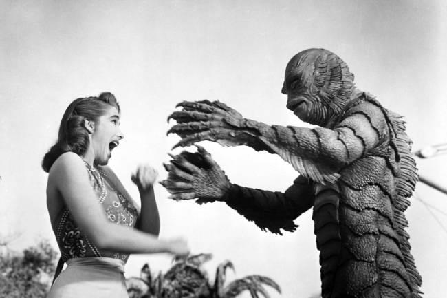 Julie Adams e Ben Chapman em 'O Monstro da Lagoa Negra' (1954)